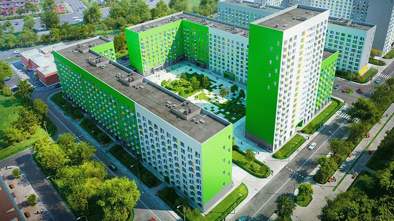 Новый жилой комплекс рядом с Бутовским лесопарком
