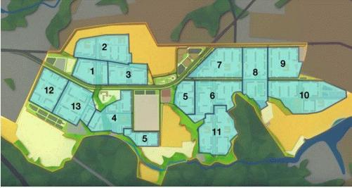 План строительства ЖК «Пригород Лесное»