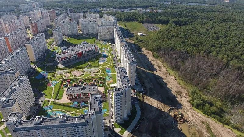 Аэросъемка жилого квартала «Первый Московский. Город-парк»