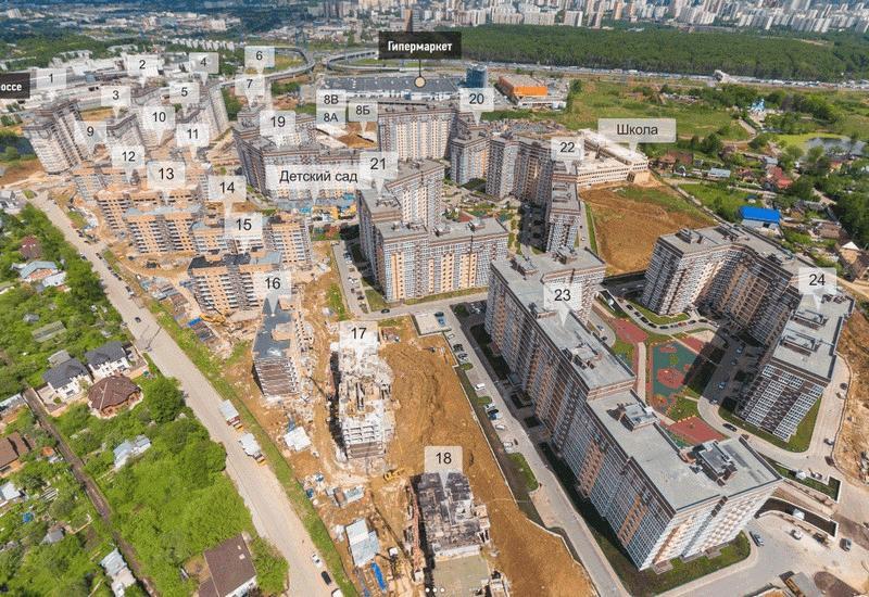 Панорама ЖК «Татьянин Парк»