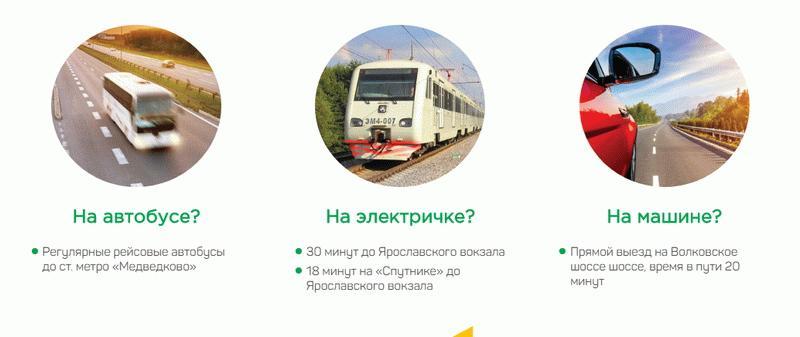 "Транспорт до ЖК ""Новое Медведково"""