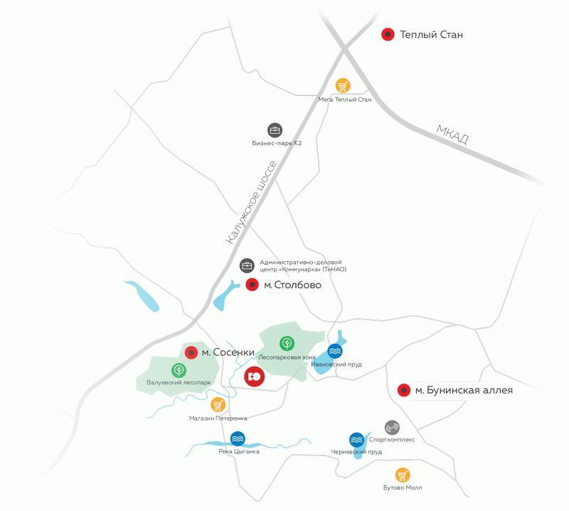 Транспортная доступность ЖК «Южное Бунино»