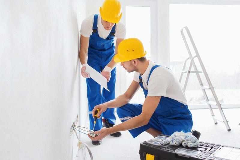 Ремонтные работы силами подрядчика в новостройке