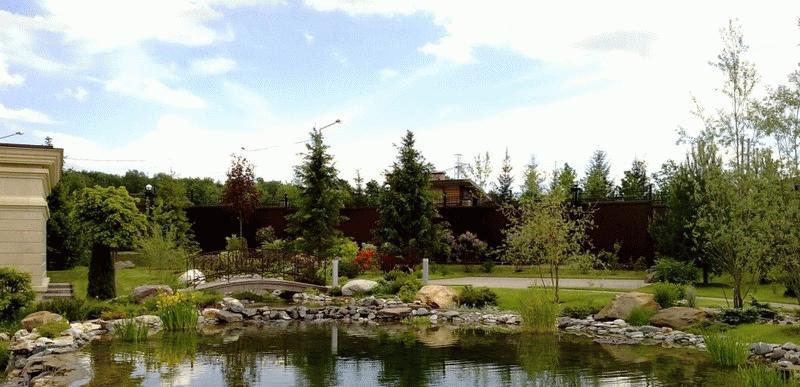 Зеленая зона загородных домов