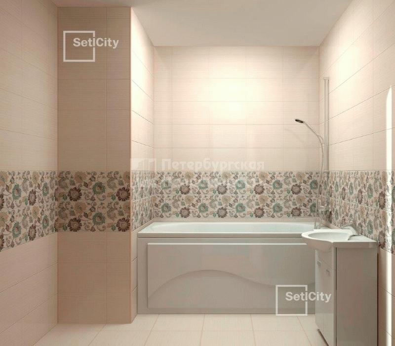 Пример отделки ванной комнаты от Сетл Сити