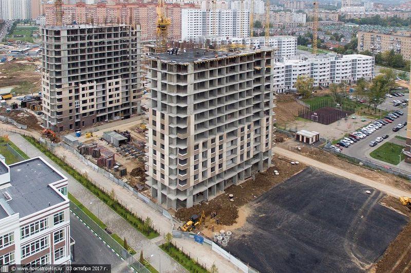 """Ход строительства ЖК """"Центральный"""" в Долгопрудном в августе 2017"""