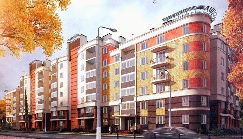 Фото нового дома на улице Чижевского в Калуге