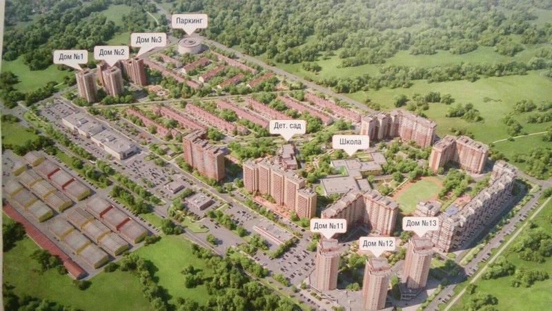 План застройки комплекса Десятка в Раменском