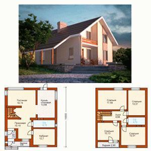 Идеальные планировки домов и коттеджей с двумя этажами