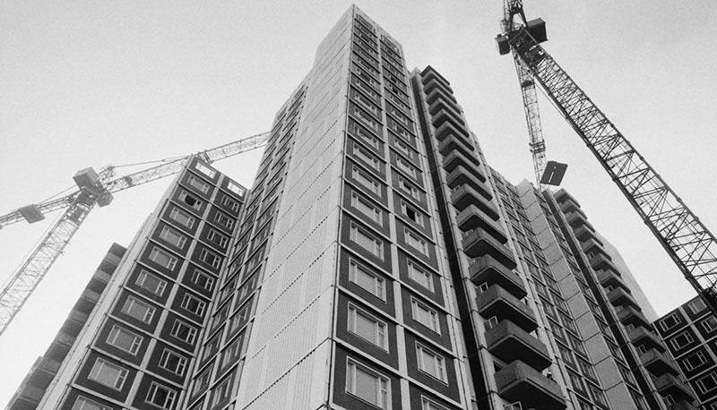 Объёмно-каркасный принцип строительства панельного дома
