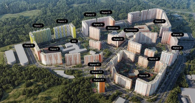 План строительства ЖК «Путилково»