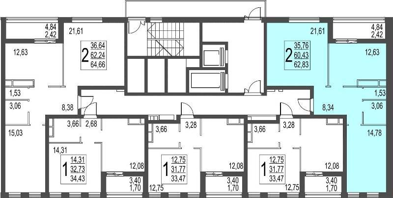 Планировки квартир в ЖК «Город»