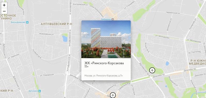 Месторасположение ЖК «Римского-Корсакова 11»