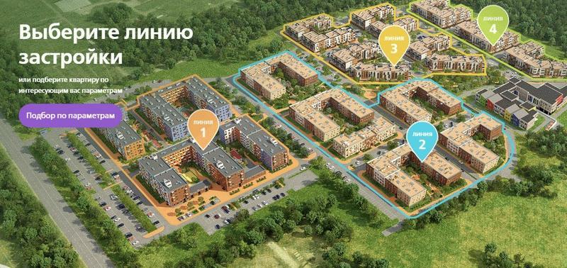 Подбор квартир в ЖК «Город-курорт Май»