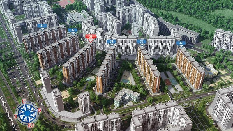 План застройки ЖК «Восточное Бутово» вблизи Боброво