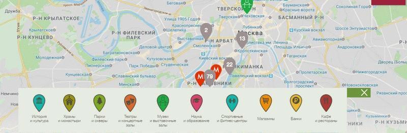 Окружение ЖК «Садовые кварталы» на карте