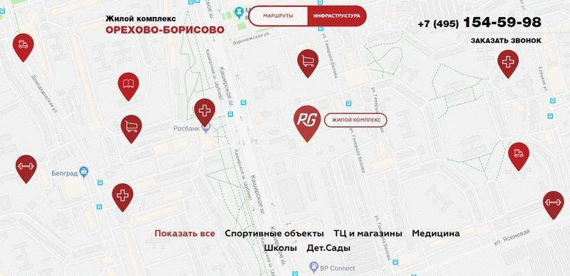 Расположение ЖК «Орехово-Борисово»