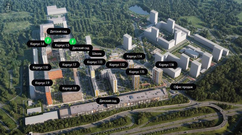План застройки ЖК «Одинцово-1»