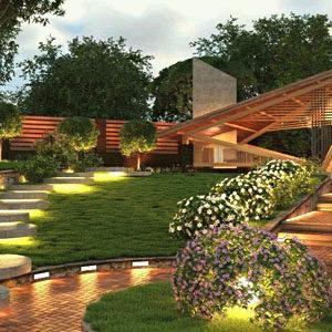 Уникальный ландшафтный дизайн участка загородного дома