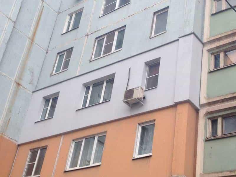 Часть здания с утепленной квартирой