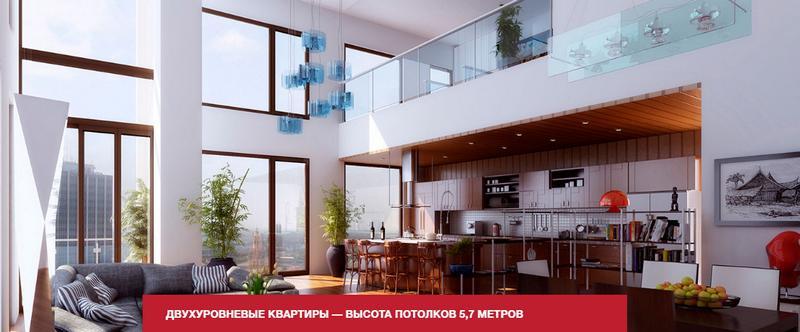 ЖК Поколение многоуровневая квартира