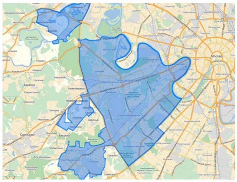Карта ЗАО