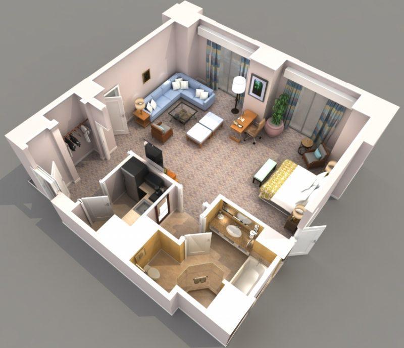 Квартиры-студии планировка и интерьер
