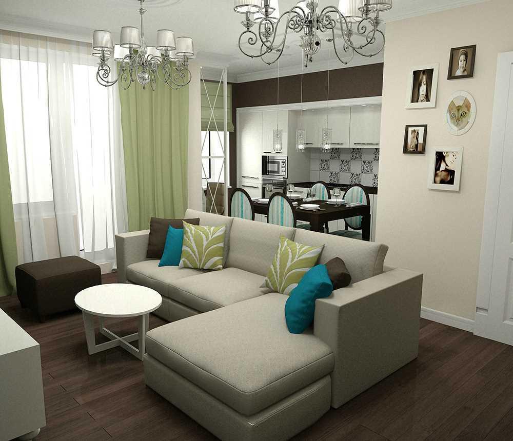 Объединенные кухня-гостиная экономят жилое пространство