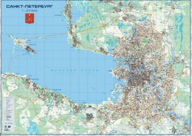 Карта города с выделением районов