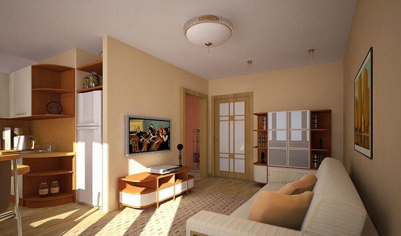 Объединение кухни с гостиной в панельном доме