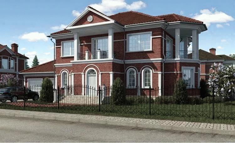 Дом из кирпича выглядит красиво и дорого