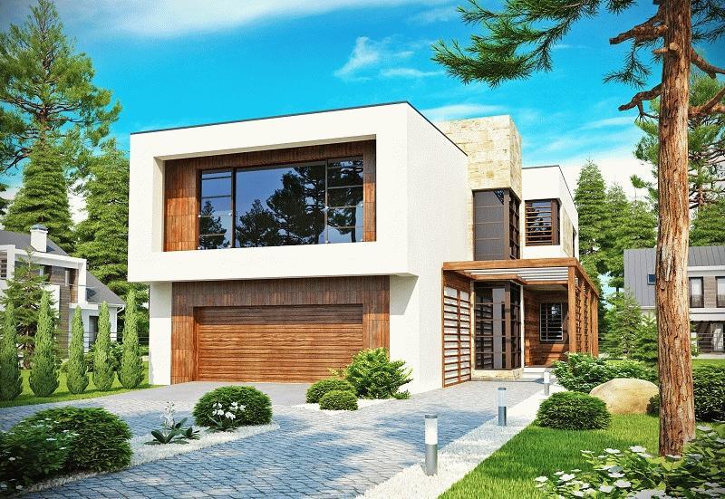 Даже в минималистическом стиле дом выглядит солидно при качественной подготовке проекта