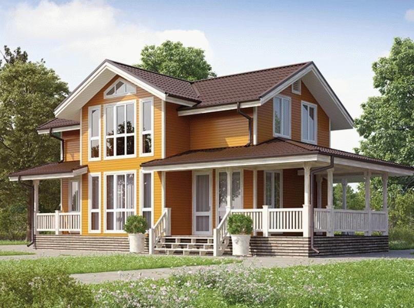 Проект «Боярин». Двухэтажный дом из бруса