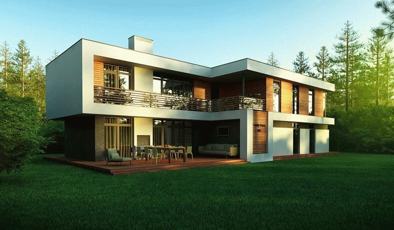 стиль модерн в коттеджном строительстве