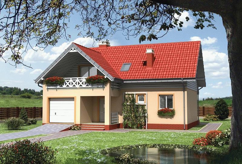 жилое строение, объединенное с гаражом, позволяет существенно экономить пространство