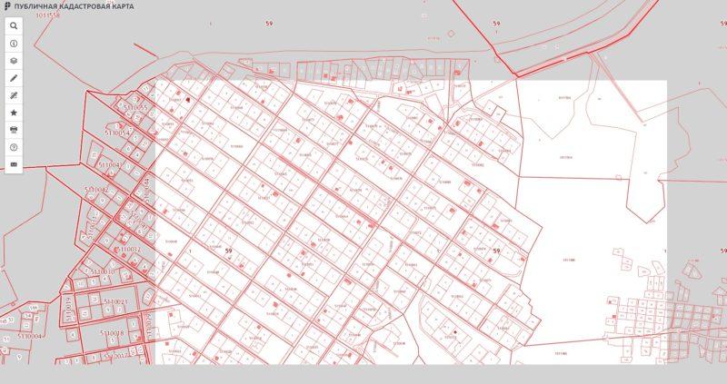 Публичная кадастровая карта для получения данных о кадастровой стоимости