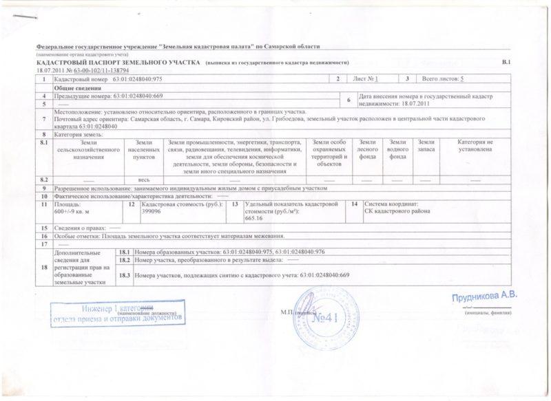 После регистрации права выдается выписка