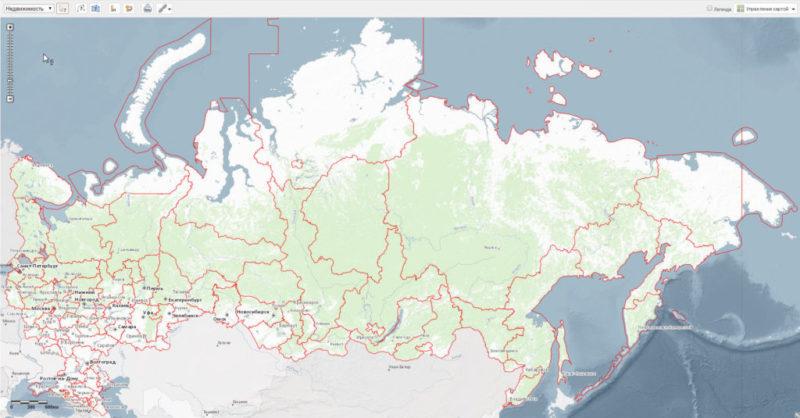 Землю подбирают по кадастровой карте