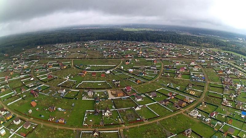 Вид с высоты на СНТ
