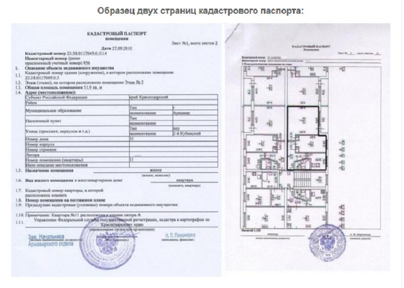 Образец кадастрового документа