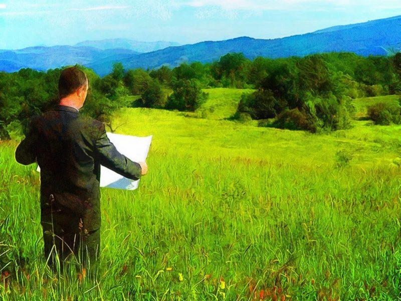 Осмотр земельного участка